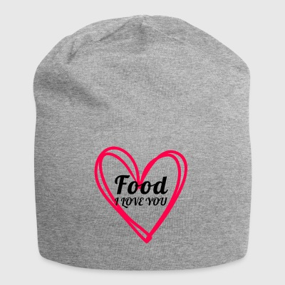 food - Beanie in jersey