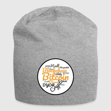 Bitcoin Tag Cloud - Jersey Beanie