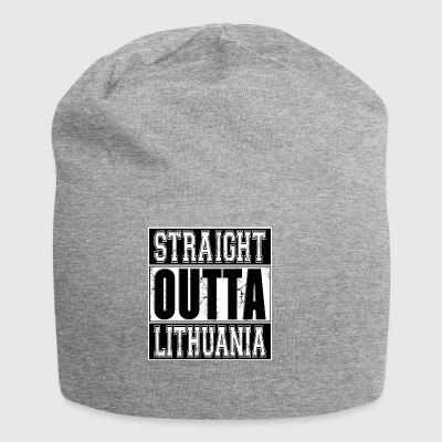 Straight Outta Lithuania 001 AllroundDesigns - Jersey-Beanie