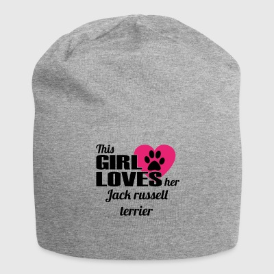 DOG THIS GIRL LOVES GIFT Jack russell ter - Jersey Beanie