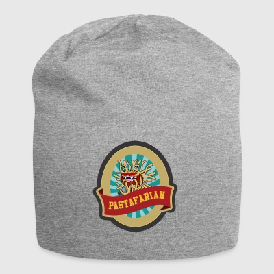 church of flying spaghetti monster with forks 2 - Jersey Beanie