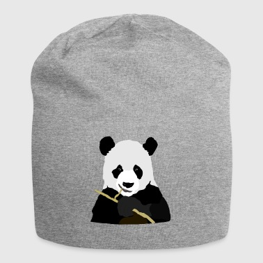 Panda eating stick - Jersey Beanie