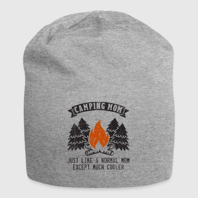 Camping Mom Like Normal Except Much Cooler Gift - Jersey Beanie