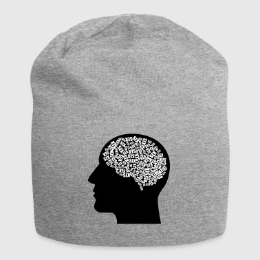 Male head (thoughts) - Jersey Beanie