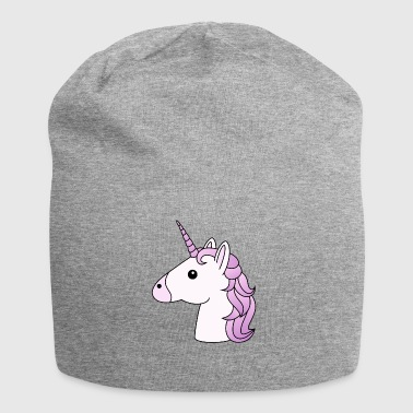 Unicorn head in lilac - Jersey Beanie