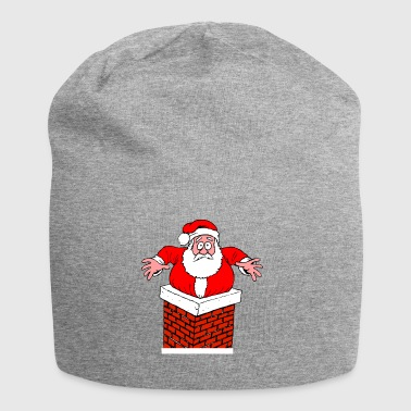 Santa Claus in the chimney funny Christmas - Jersey Beanie