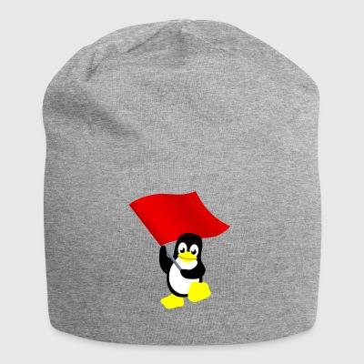 Tux mit roter Fahne - Jersey-Beanie