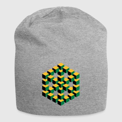 impossible figure Escher cube geometry fantasy - Jersey Beanie
