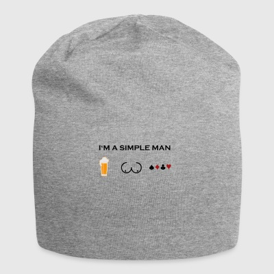 simple man boobs beer beer tits poker poker png - Jersey Beanie