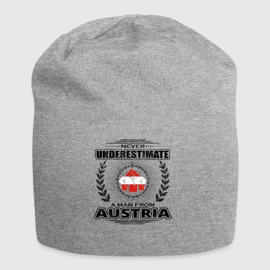 Never underestimate man Roots AUSTRIA png - Jersey Beanie