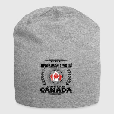 Never Underestimate Man Roots CANADA png - Jersey Beanie