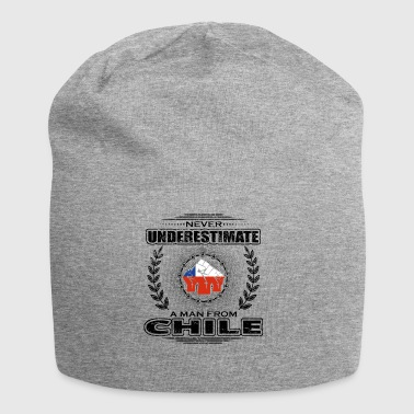 Never Underestimate Man Roots CHILE png - Jersey Beanie