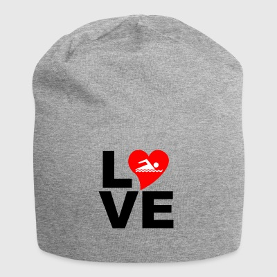 LOVE Swimming - Jersey Beanie