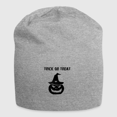 De truc van Halloween of het behandelen trick or treat pompoen - Jersey-Beanie
