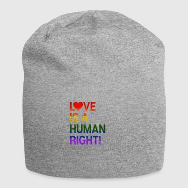Love Is a human right! Homo LGBT Gift - Jersey Beanie