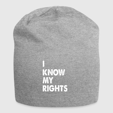 I know my rights funny sayings - Jersey Beanie