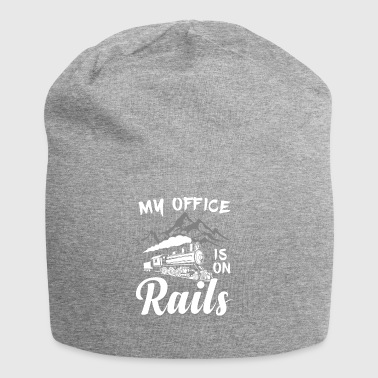 Railroad Trains - My Office is on Rails - Jersey Beanie