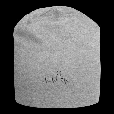 Dog shirt Heartbeat heartbeat frequency pulse - Jersey Beanie