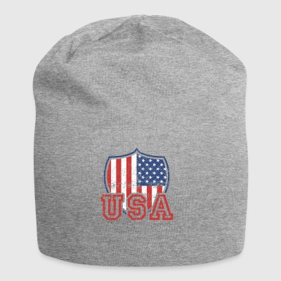 USA T Shirt Flag Vintage US Shield Distressed - Jersey-Beanie
