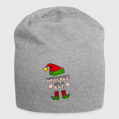 Mother Elf - Mom Elf - Christmas Gift - Jersey Beanie