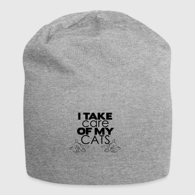I care of my cats - Jersey Beanie