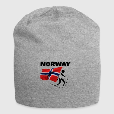 Biathlon with heart in Norway as a gift - Jersey Beanie