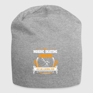 Nordic Skating Mom Shirt Gift Idea - Jersey Beanie