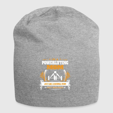 Powerlifting Mom Shirt Gift Idea - Jersey Beanie