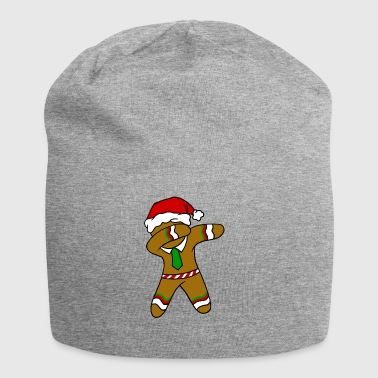 Dabbing Gingerbread Necktie Funny Xmas Holiday Pun - Jersey Beanie