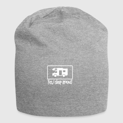 We sleep in a caravan and drive around - Jersey Beanie