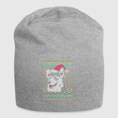 Border Collie Ugly Christmas Sweater Gift - Jersey Beanie