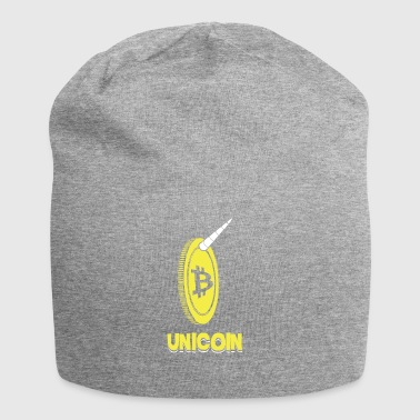 Unicoin Funny Bitcoin Unicorn Blockchain Currency - Beanie in jersey