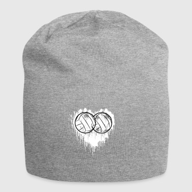 My heart beats for volleyball gift - Jersey Beanie