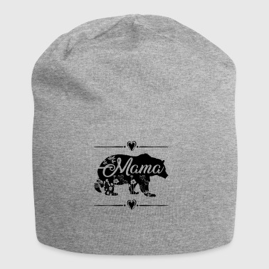 Beautiful Mama Bear with floral and heart deco - Jersey Beanie
