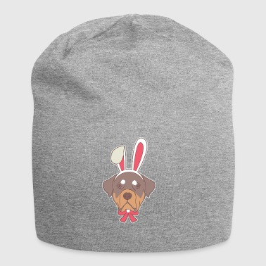 Rottweiler Dog Easter Bunny Happy Easter Gift Ha - Jersey Beanie