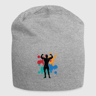 Sport fitness muscles gift color splash painting - Jersey Beanie