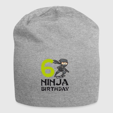 Ninja 6th Sixth Kids Birthday Karate T-Shirt - Jersey Beanie