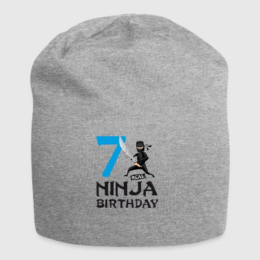 Ninja 7th seven kids birthday karate t-shirt - Jersey Beanie