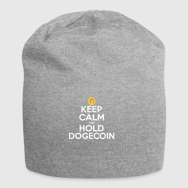 Keep Calm and Hold Dogecoin- HODL Cryptocurrency - Jersey Beanie
