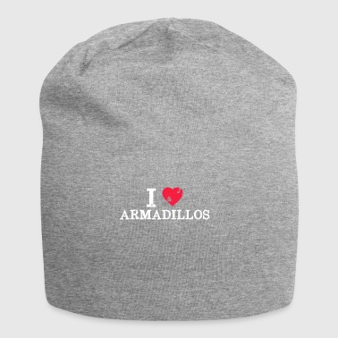 Maglietta I Love Armadillos - Pun Animal Lover Cute - Beanie in jersey