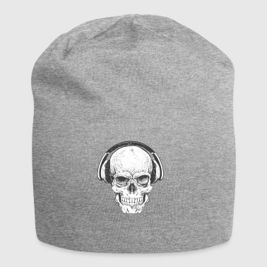 DJ skull with headphones - Jersey Beanie
