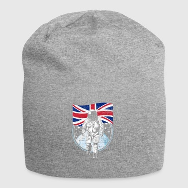 Great Britain flag in space Astronaut - Jersey Beanie