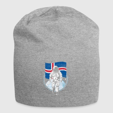 Iceland flag in outer space - Jersey Beanie