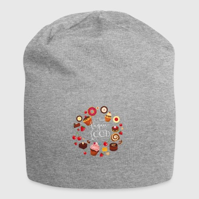 sweetie I love vegan food cakes circle sweet fruit - Jersey Beanie