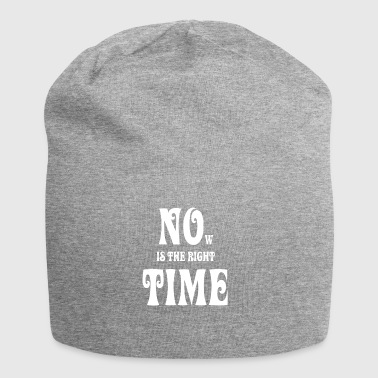 NOW IS THE RIGHT TIME - NO TIME, white - Jersey Beanie