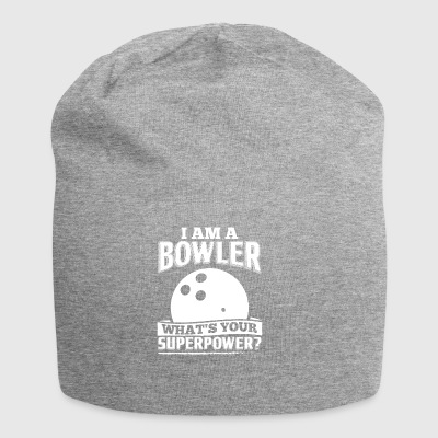 Divertente Bowling Bowler shirt I Am A - Beanie in jersey