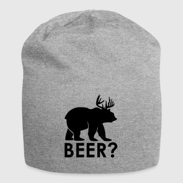 Bear or Deer? BEER! Bier lustig - Jersey-Beanie