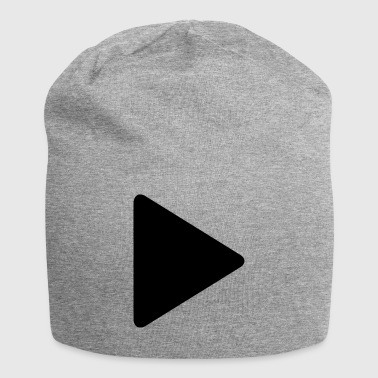 Play Symbol Button ► Dreieck - Jersey-Beanie