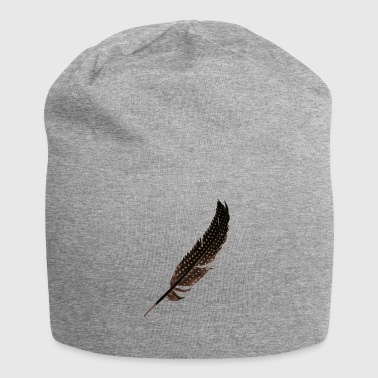 Guinea Fowl Feather - Jersey Beanie