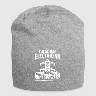 Funny Electrician Shirt I Am A - Jersey Beanie